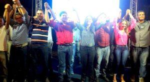Em Colinas no comício do candidato a prefeito Fabrício Santana