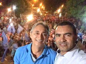 Em Bom Jesus com candidato a prefeito Paulo Hernandes (PRB)