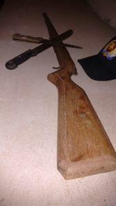 Arma apreendida em Xambioá