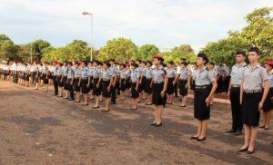 Alunos do colégio da Polícia Militar