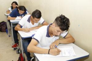 Além dos simulado do MEC, os estudantes da rede estadual de ensino do Tocantins também participam do Enem nas Escolas, realizado pela Seduc