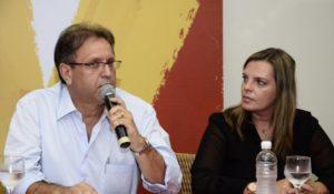 Governador Marcelo Miranda e Claudia Lélis, vice