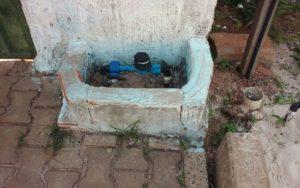 Hidrômetro onde o bebê foi encontrado