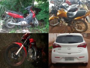 Motos e veículo recuperados