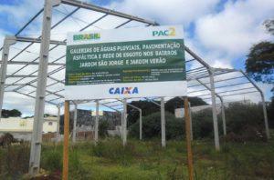 Obra no município de Sarandi-PR