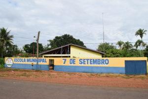 Escola 7 de setembro no Povoado Passarinho, em Tocantinópolis